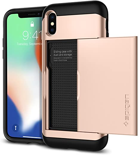 Spigen Custodia Cover a Libro per Apple iPhone X con porta Carte - cifnet