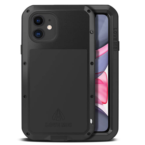 Cover Waterproof Apple iPhone 11 Pro Vetro Temperato Powerful Love Mei Nero