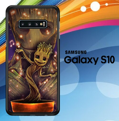 Groot Dancing And Smile Z0190 custodia cover Samsung Galaxy S10