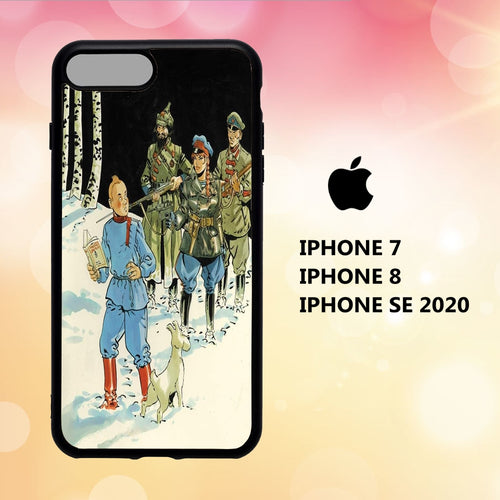 Custodia Cover iphone 5 6 7 8 plus x xs xr case A8317 tintin wallpaper 113rB5