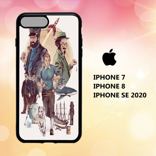 Custodia Cover iphone 5 6 7 8 plus x xs xr case G3929 tintin wallpaper 113pP2