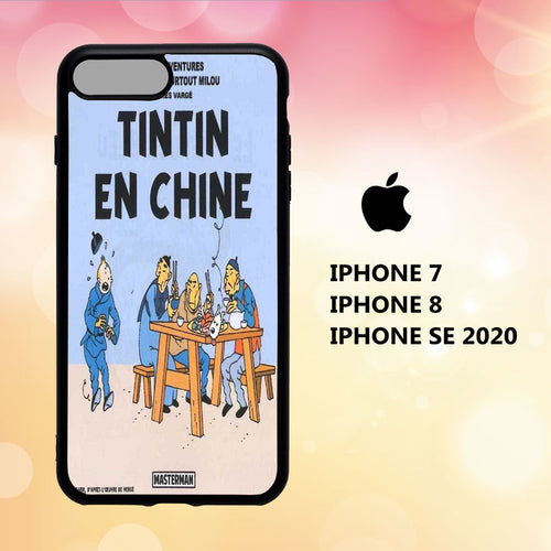 Custodia Cover iphone 5 6 7 8 plus x xs xr case X3126 tintin wallpaper 113eE5