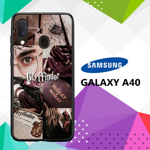 cover custodia case samsung galaxy a40 K8476 ravenclaw wallpaper 51cW6