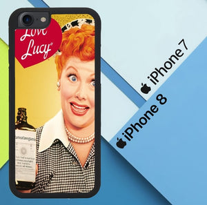 I Love Lucy X4656 custodia cover iPhone 7 , iPhone 8