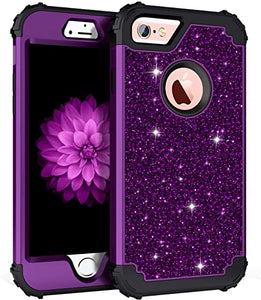 iphone 6 custodia Purple Glitter