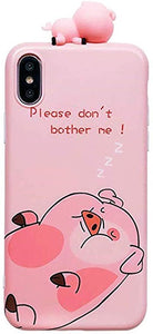 iphone xs Max custodias 3d Cartoon Pet Pig