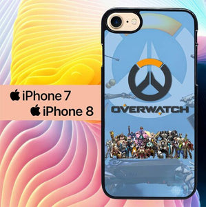 overwatch game L1019 custodia cover iPhone 7 , iPhone 8