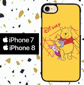 whinnie the pooh W9009 custodia cover iPhone 7 , iPhone 8