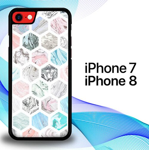 Marble Paper Textures E1465 custodia cover iPhone 7 , iPhone 8