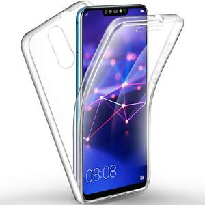 COVER PER HUAWEI MATE 20 LITE FULL BODY 360 FRONTE RETRO CUSTODIA  TRASPARENTE