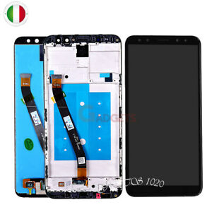 DISPLAY+TOUCH SCREEN+FRAME COVER HUAWEI MATE 10 LITE BIANCO VETRO RNE-L21  L23