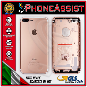 SCOCCA POSTERIORE BACK COVER HOUSING TELAIO MIDDLE per IPHONE 7 + PLUS ROSE  GOLD