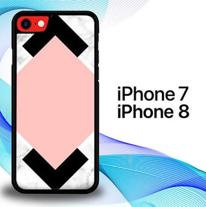 White Pink Art P0756 custodia cover iPhone 7 , iPhone 8