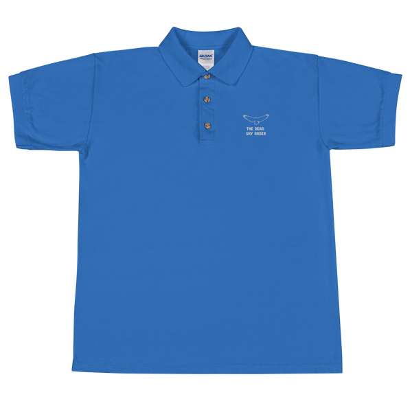 The Dead Sky Order Embroidered Polo Shirt - with basic symbol and writing