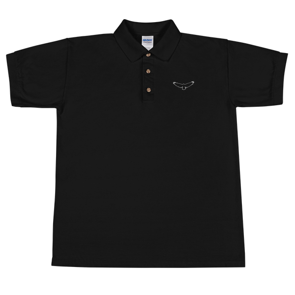 The Dead Sky Order Embroidered Polo Shirt - with basic symbol