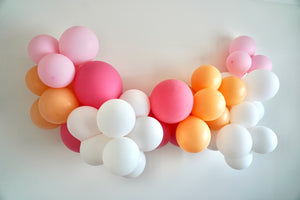 DIY Balloon Garland Kit - Pinks, Peach and White