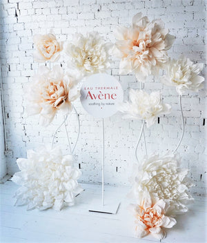 Giant Paper Flower set with Sign