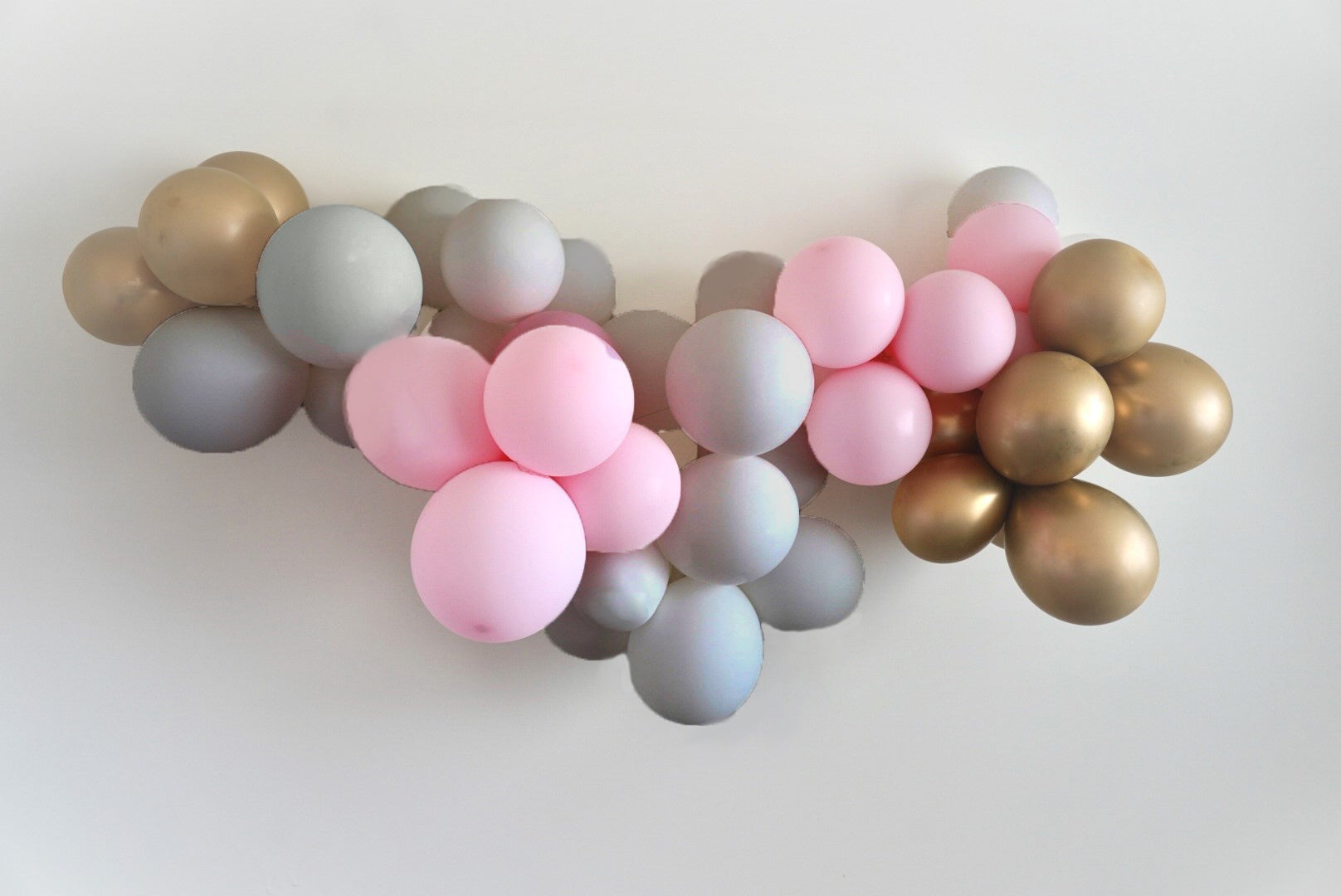 Diy Balloon Garland Grey Pastel Pink And Gold Or Silver Istoria Events