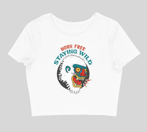 Born Free, Staying Wild Women's Crop Top