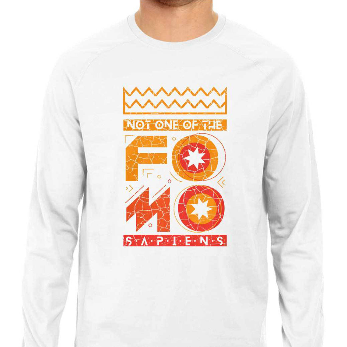 Not One Of The Fomo Sapiens! Men's Long Sleeve T-shirt