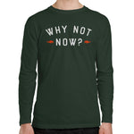 Why Not Now Men's Long Sleeve T-shirt