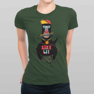 Stay Lit Women's T-shirt (Black)