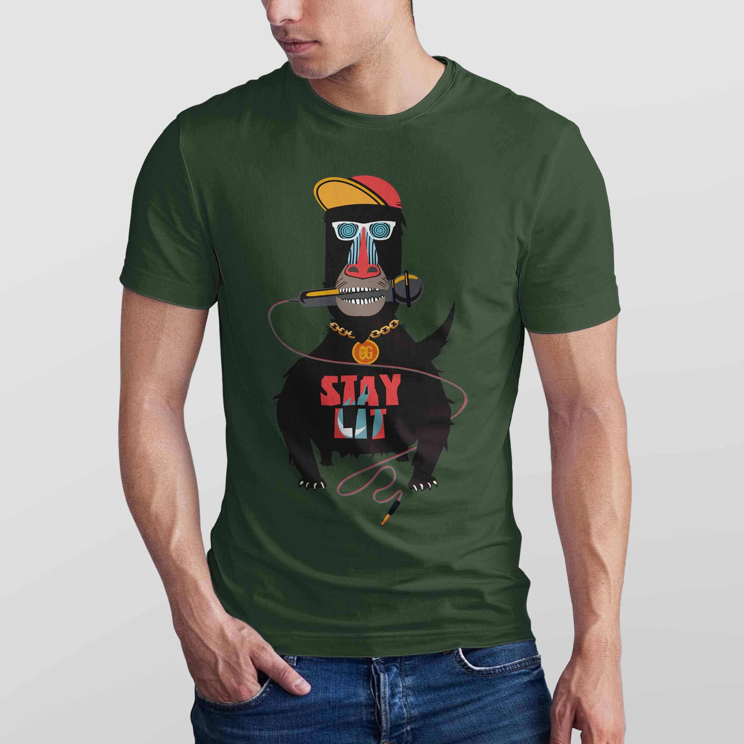 Stay Lit Men's T-shirt (Black)