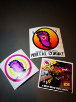 Bigfoot Portal Crisis Stickers