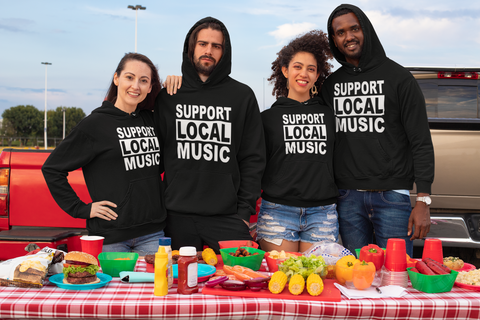 Support Local Music Unisex Hoodie