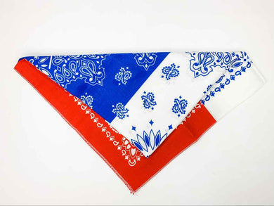 Red White Blue Striped Bandana