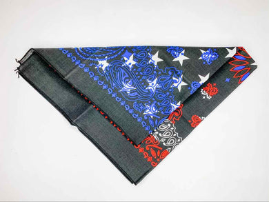 Red & Black & Blue Bandana