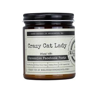 Crazy Cat Lady- Infused with Excessive Facebook Posts - Scent: Blueberry Cobbler
