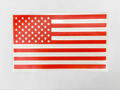 American Flag Vinyl Decal - Red