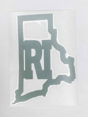 Rhode Island Vinyl Decal - Bright Pink