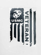 Load image into Gallery viewer, USMC Veteran Vinyl Decal - Pink Camo