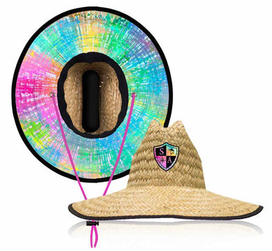 Rainbow Straw Hat