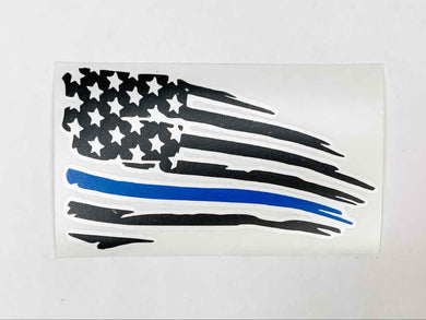 Blue Line Vinyl Decal