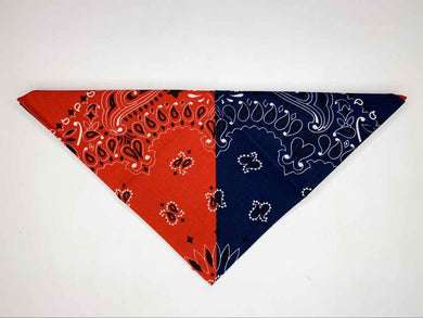 Red & Navy Blue Bandana