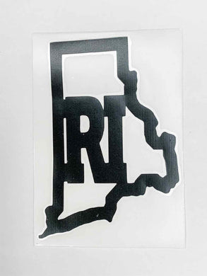 Rhode Island Vinyl Decal - Black