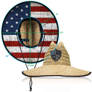 Pink American Flag Straw Hat