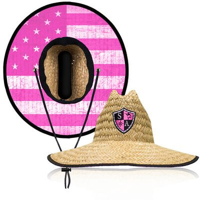 Pink Flag Straw Hat