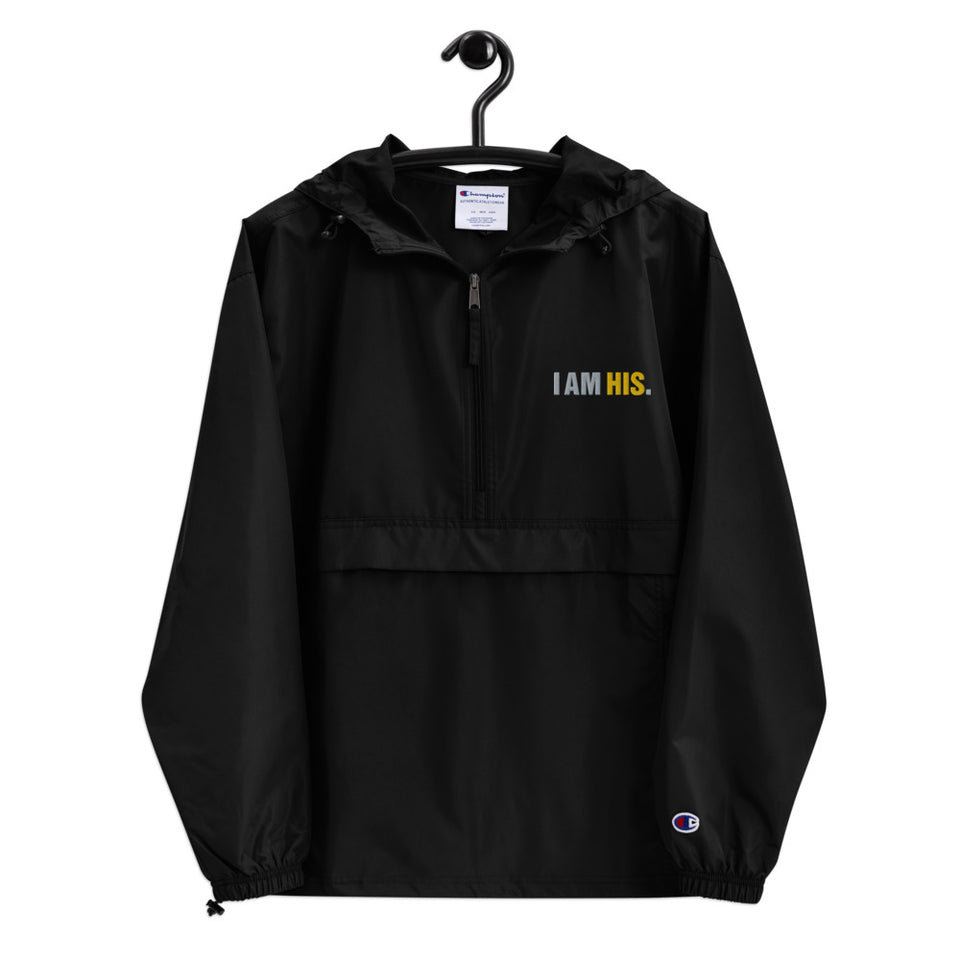 I AM HIS.™ Embroidered Champion Packable Jacket