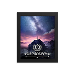 POWERED BY THE CREATOR™ Framed Poster