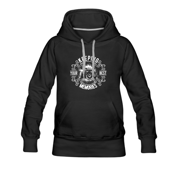 Photographer Women's Premium Hoodie - black