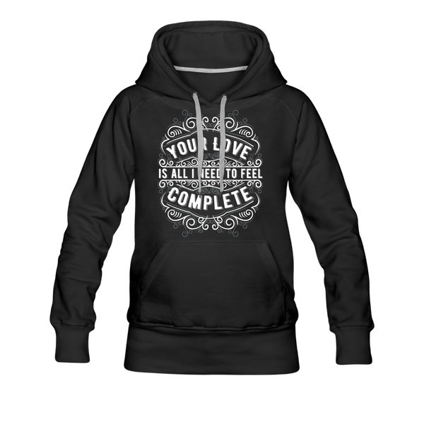 Your Love Women's Premium Hoodie - black