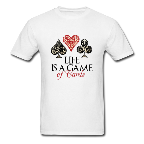 Game of Cards Unisex Classic T-Shirt - white