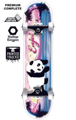 Enjoi Tropical Airbrush Panda - Skateboard Complete
