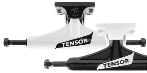 Tensor Alum Reg Switch Flick White / Black (PAIR) - Skateboard Trucks