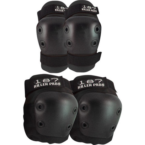 187 Pad Set (Knees / Elbows) Black - Protection