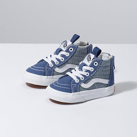 Vans Youth Sk8-Hi Zip Chambray Canvas - Shoes